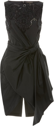 ZUHAIR MURAD Loly Gathered-Bow Crepe Mini Dress