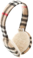 Burberry Cashmere House Check Earmuffs