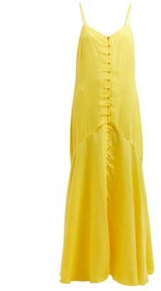 Mara Hoffman Diana Twill Maxi Dress - Womens - Yellow