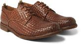 Officine Creative - Woven Leather Derby Shoes