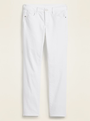 Old Navy Low-Rise Pop Icon Skinny White Jeans for Women