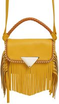 Sara Battaglia Mini Amber Leather Shoulder Bag