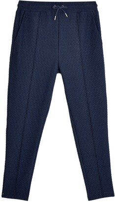 Topman Textured Pintuck Jogger Pants