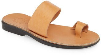 Jerusalem Sandals Abra Toe Loop Slide Sandal