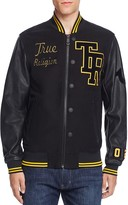 True Religion Collegiate Moleskin Letter Jacket