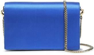 Diane von Furstenberg Leather And Satin Shoulder Bag