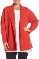 Eileen Fisher Boiled Wool Shawl Collar Coat (Plus Size)