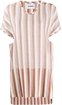 Jil Sander structured striped-print T-shirt