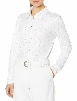 Cutter & Buck Women's Moisture Wicking UPF 50+ Long-Sleeve Bree Printed Polo Shirt