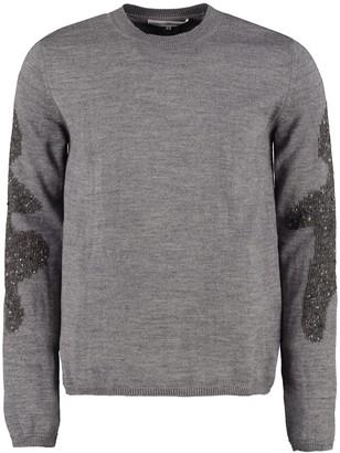 Comme des Garçons Shirt Wool-blend Crew-neck Sweater
