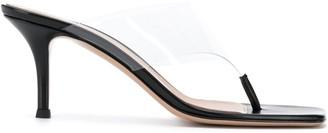 Gianvito Rossi Lotus 70mm plexi sandals