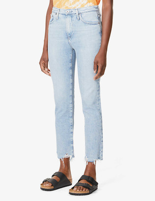 AG Jeans Isabelle straight high-rise jeans