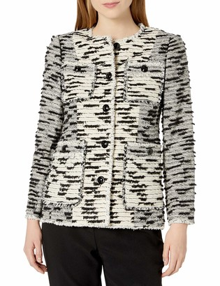 Rebecca Taylor Women's Patched Tweed Jacket