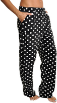 Angelina Black & White Fleece Pajama Pants - Plus Too