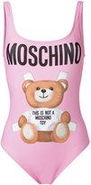 Moschino teddy front swimsuit - women - Polyester/Spandex/Elastane - 38