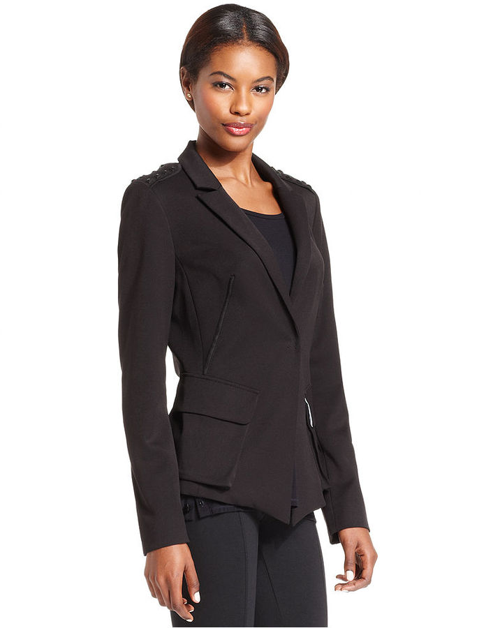 Rachel Roy Jacket, Long-Sleeve Studded Blazer