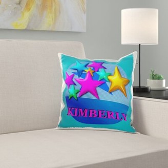 Kimberly East Urban Home Vibrant Color Stars Pillow Cover East Urban Home