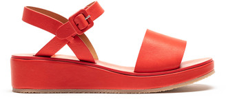 Tracey Neuls - BARBARA Tomato | Red Leather Strap Sandals - 36
