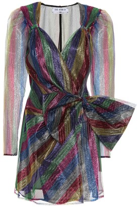 ATTICO Pat tulle mini wrap dress