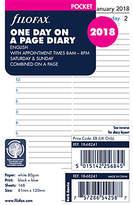 Filofax Day Per Page 2018 Diary Inserts, Pocket