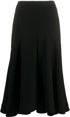 Totême flared A-line midi skirt