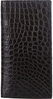 Barneys New York Men's Alligator Long Wallet-BLACK