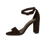 Pelle Moda Black Suede Heel