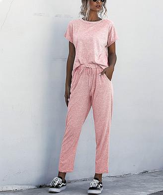 Amasoo Women's Casual Pants pink - Pink Tee & Sweatpants - Women, Juniors & Plus