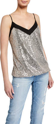 7 For All Mankind Sequined V-Neck Cami