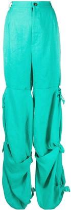 Natasha Zinko Ruched-Side High-Rise Trousers