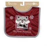 Baby's First by Nemcor Canadian Cuties Christmas Bib-Ranger Raccoon