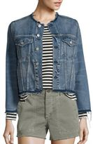 Amo Lola Distressed Denim Jacket