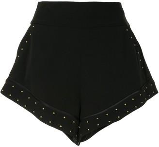 Camilla Micro-Stud Flared Shorts