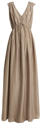 Loup Charmant Sirena Silk Maxi Dress - Womens - Beige
