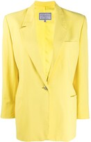 Versace Pre Owned 1980s one button blazer