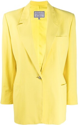 Versace Pre-Owned 1980s One Button Blazer