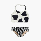J.Crew Girls' cropped tankini set in mixed hearts