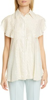 Stella McCartney Fil Coupe Silk Blend Blouse