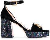 Gucci block heel sandals