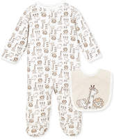 Little Me Baby Set, Baby Boys Footed Coverall and Bib