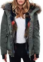 SAM. Multi Luxe Sloane Fur-Lined Down Bomber Jacket