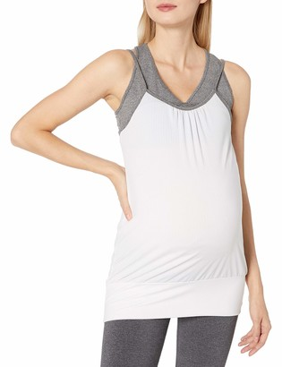 Belabumbum Women's Maternity Room to Flow and Nursing Faux Double Layer Tank