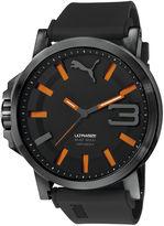 Puma Ultrasize Mens Black and Orange Watch PU103911001