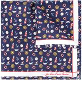 fe-fe nautical print pocket square