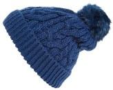 Hinge Women's Knit Pompom Beanie - Blue