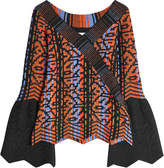 Peter Pilotto Printed Knit Top with Wool, Alpaca and Cashmere