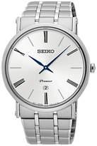Seiko Skp391p1 Premier Date Bracelet Strap Watch, Silver/white