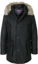 Woolrich fur trim parka coat