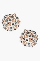 Topshop 'Spike Stone' Stud Earrings White