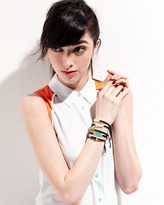Tai Cabochon/Silk Drawstring Bracelet, Olive